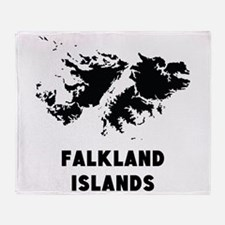 Falkland Islands Silhouette Throw Blanket