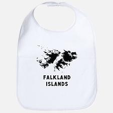 Falkland Islands Silhouette Bib