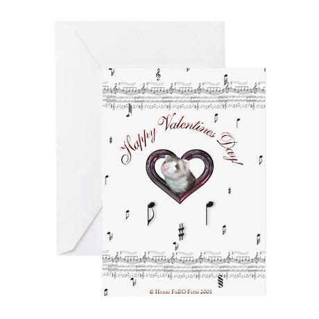 Ferret Valentines Greeting Cards (Pk of 10)