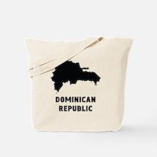 Dominican Republic Silhouette Tote Bag