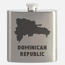 Dominican Republic Silhouette Flask