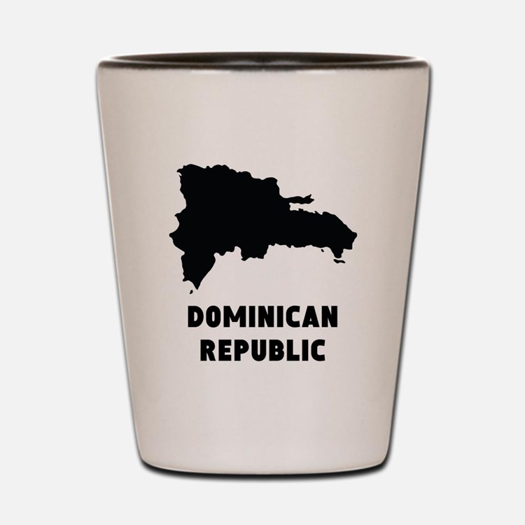 Dominican Republic Silhouette Shot Glass