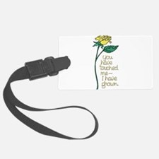 Single Yellow Rose with Sentimen Luggage Tag