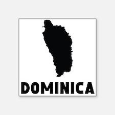 Dominica Silhouette Sticker