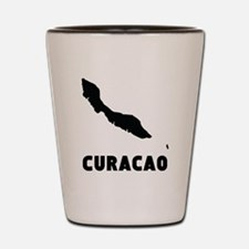 Curacao Silhouette Shot Glass