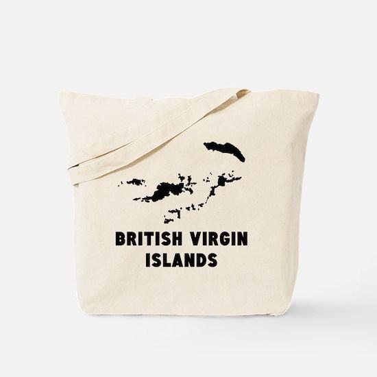 British Virgin Islands Silhouette Tote Bag