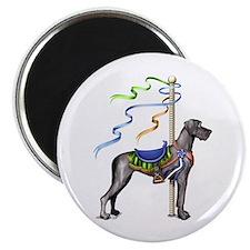 Great Dane Black UC Carousel Magnet