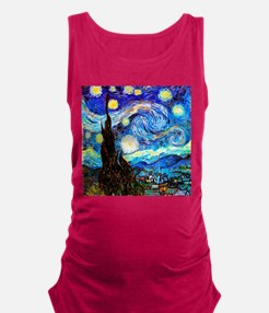 Starry Night Van Gogh Maternity Tank Top