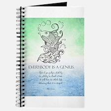 Everybody is a Genius Koi Fish Journal