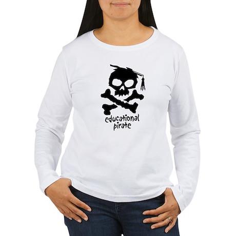 Educational Pirate Women's Long Sleeve T-Shirt