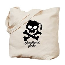 Educational Pirate Tote Bag