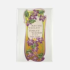 Azure Violet Toilet Water Vin Rectangle Magnet
