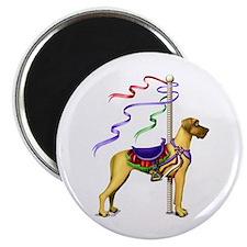 Great Dane Fawn UC Carousel Magnet