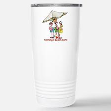 Flamingo Beach Bums Travel Mug