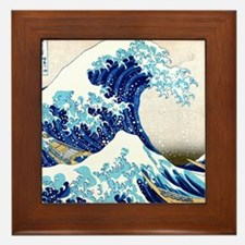 Great Wave Off Kanagawa Framed Tile