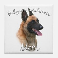 Malinois Mom2 Tile Coaster