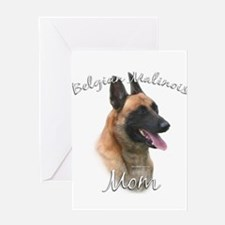 Malinois Mom2 Greeting Card
