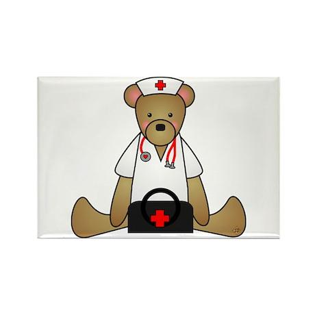 Teddy Bear Medical Rectangle Magnet (10 pack)
