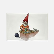 Ball and Chain Gnome Rectangle Magnet