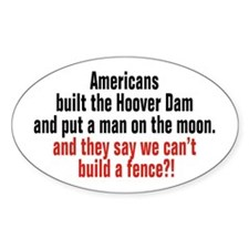 Americans built... Oval Bumper Stickers