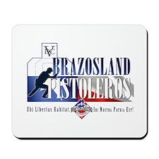 Brazosland Pistoleros logo mousepad