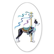 Great Dane Mantle Carousel Oval Decal