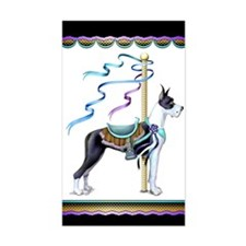 Great Dane Mantle Carousel Rectangle Decal