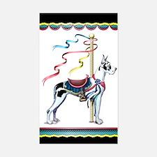 Great Dane Harle Carousel Rectangle Decal