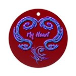 My Heart Red Ornament (Round)