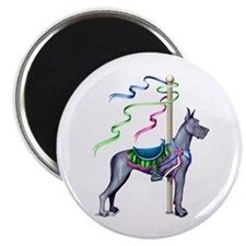 Great Dane Blue Carousel Magnet