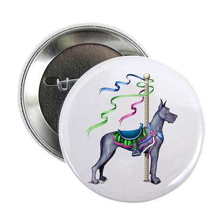Great Dane Blue Carousel Button