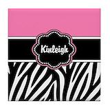 Pink zebra Drink Coasters