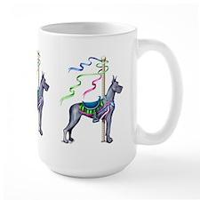 Great Dane Blue Carousel Mug