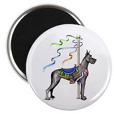 Great Dane Black Carousel Magnet