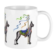 Great Dane Black Carousel Mug
