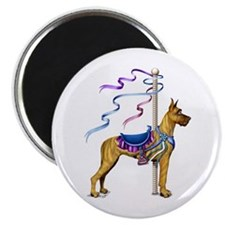 Great Dane Brindle Carousel Magnet