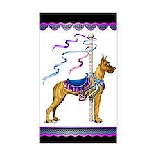 Great Dane Brindle Carousel Rectangle Decal