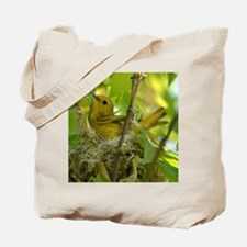 Yellow warbler in nest Tote Bag