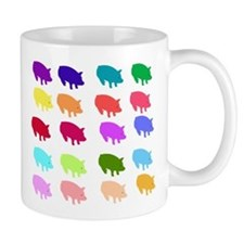 Rainbow Pigs Small Mug