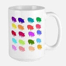 Rainbow Pigs Large Mug
