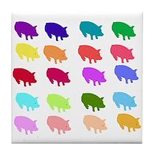 Rainbow Pigs Tile Coaster