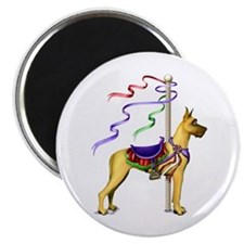 Great Dane Fawn Carousel Magnet