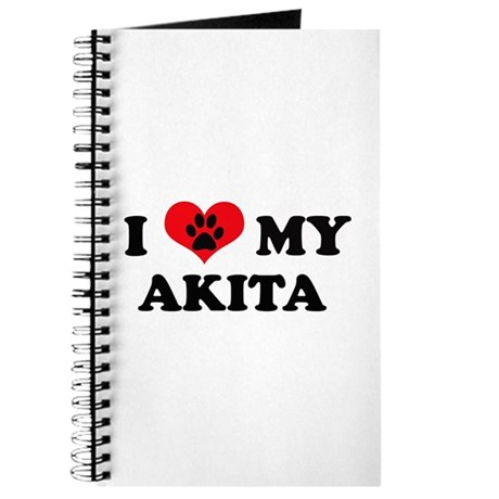 I Love My Akita - Dog Breeds Journal