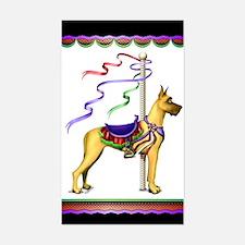 Great Dane Fawn Carousel Rectangle Decal