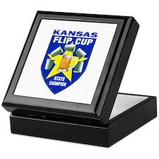 Kansas Flip Cup State Champio Keepsake Box