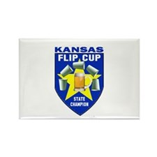 Kansas Flip Cup State Champio Rectangle Magnet
