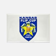 Kansas Flip Cup State Champio Rectangle Magnet