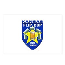 Kansas Flip Cup State Champio Postcards (Package o