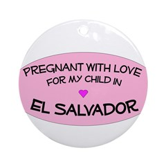 El Salvador Adoption Ornament (Round)