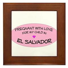 El Salvador Adoption Framed Tile